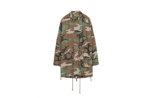 Brown, Collar, Sleeve, Khaki, Uniform, Pattern, Camouflage, Beige, Turquoise, Tan,