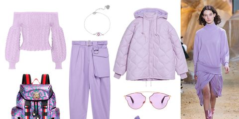 Clothing, White, Purple, Pink, Lavender, Violet, Fashion, Footwear, Lilac, Outerwear,