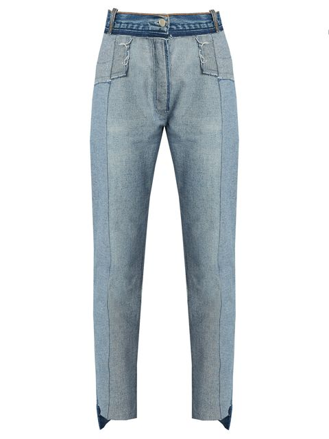 Clothing, Blue, Brown, Product, Denim, Trousers, Pocket, Jeans, Textile, Standing,