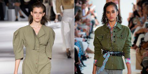 Fashion model, Fashion, Clothing, Runway, Fashion show, Waist, Footwear, Neck, Human, Summer,