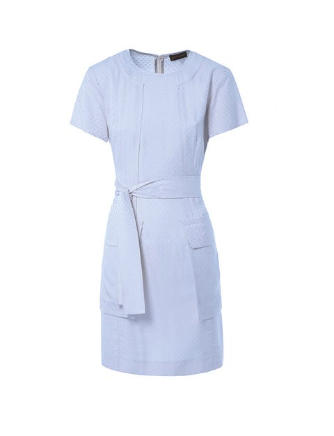 Blue, Product, Sleeve, Textile, Collar, White, Dress, Fashion, One-piece garment, Electric blue,