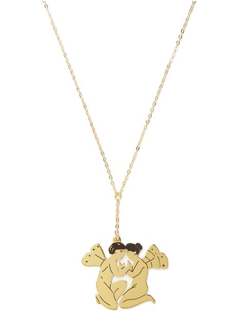 Brown, Chain, Fashion accessory, Pendant, Necklace, Metal, Tan, Jewellery, Beige, Body jewelry,