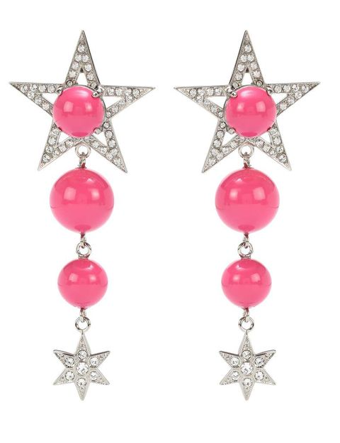 Pink, Earrings, Magenta, Fashion accessory, Natural material, Fashion, Body jewelry, Craft, Bead, Jewelry making,