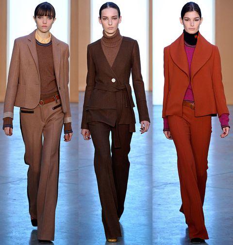 Brown, Sleeve, Collar, Standing, Style, Formal wear, Blazer, Headgear, Fashion, Orange,