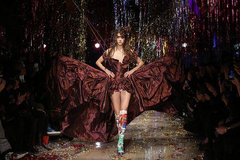 Event, Night, Fashion, Darkness, Midnight, Fashion model, Costume design, Haute couture, Fashion design, Dance,