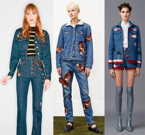 Clothing, Blue, Denim, Collar, Sleeve, Textile, Dress shirt, Pattern, Style, Pocket,