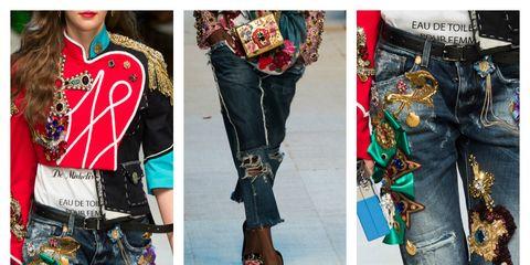 Clothing, Sleeve, Denim, Textile, Collar, Pattern, Style, Street fashion, Fashion, Pocket,