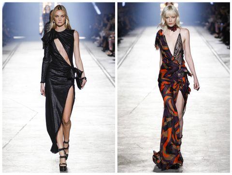 Style, Fashion model, Street fashion, Fashion, Orange, Model, Fashion design, Waist, Blond, Long hair,