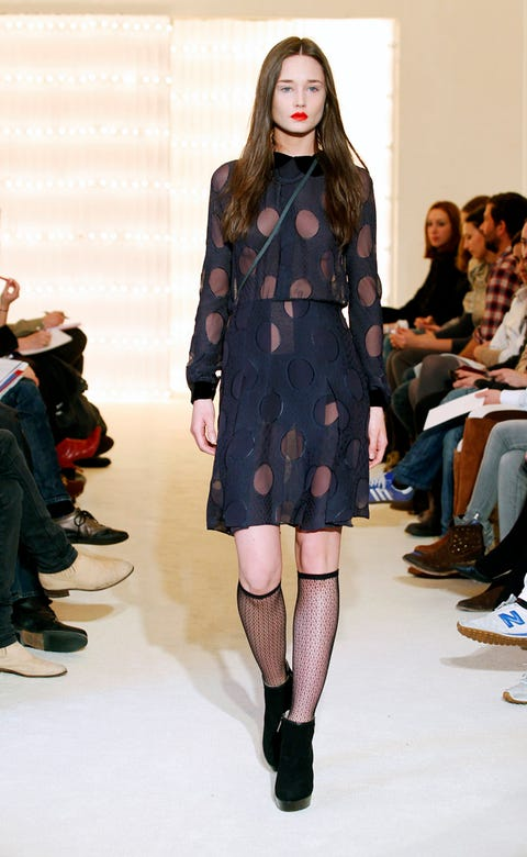 Clothing, Footwear, Leg, Shoulder, Fashion show, Joint, Outerwear, Jeans, Style, Fashion model,
