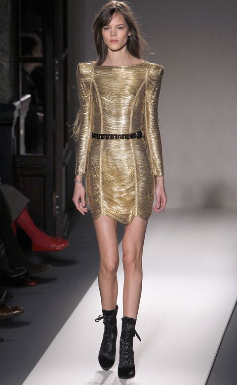 Clothing, Footwear, Human leg, Joint, Fashion show, Fashion model, Style, Waist, Runway, Dress,