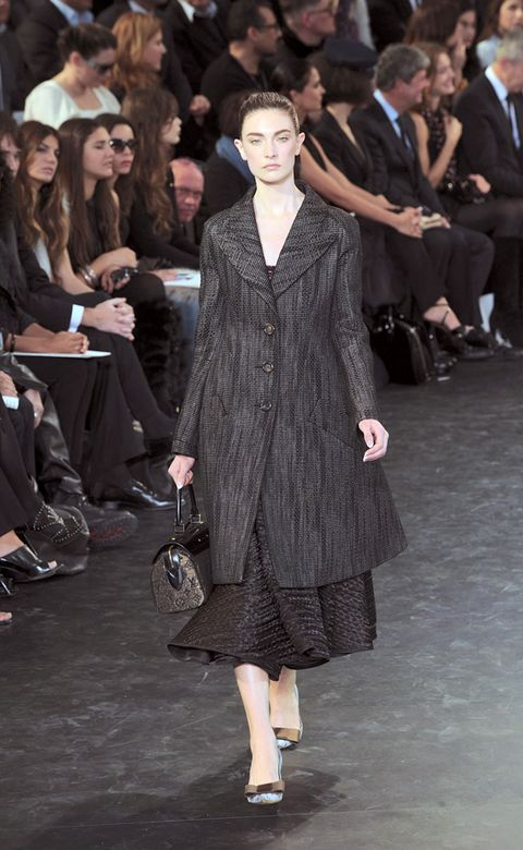 Clothing, Footwear, Leg, Event, Trousers, Coat, Outerwear, Fashion show, Style, Dress,