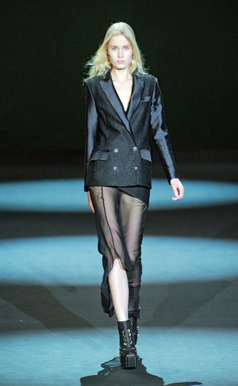 Human, Fashion show, Runway, Outerwear, Human leg, Fashion model, Style, Knee, Jacket, Street fashion,