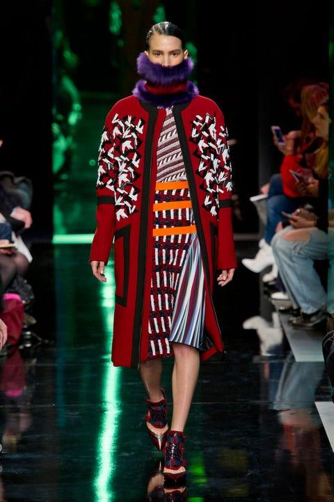 Fashion show, Runway, Fashion, Street fashion, Fashion model, Costume design, Fashion design, Sandal, Model, Fur,