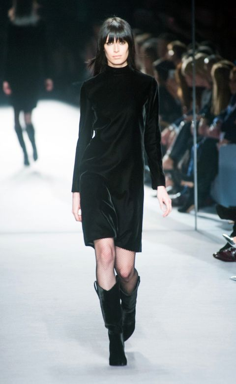 Leg, Fashion show, Shoulder, Joint, Dress, Runway, Human leg, Fashion model, Style, Knee,