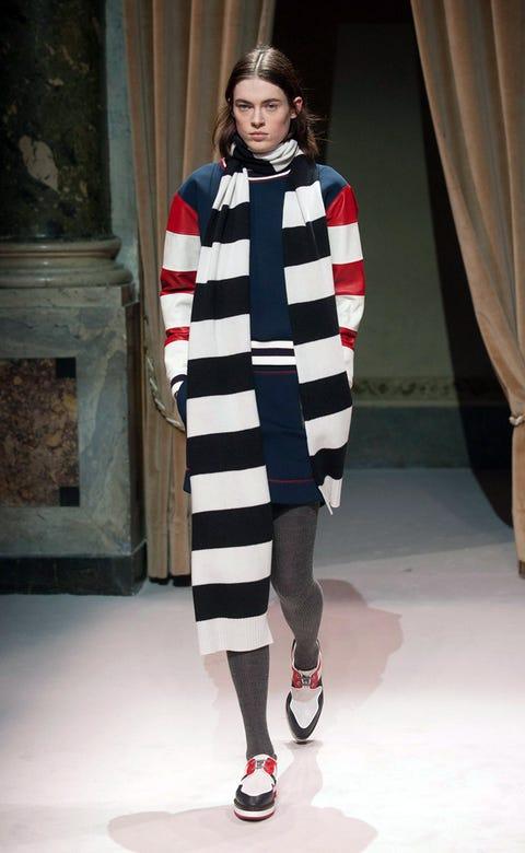 Clothing, Sleeve, Shoulder, Human leg, Textile, Fashion show, Style, Fashion model, Street fashion, Dress,