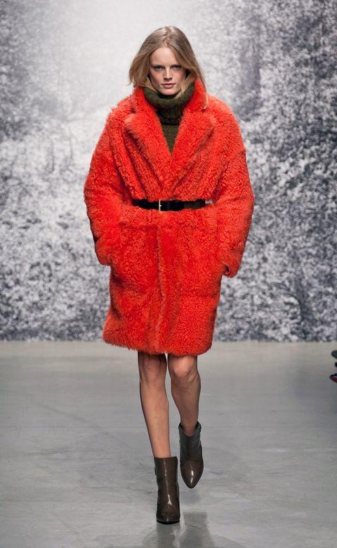 Clothing, Sleeve, Winter, Textile, Outerwear, Human leg, Fashion show, Style, Street fashion, Pattern,