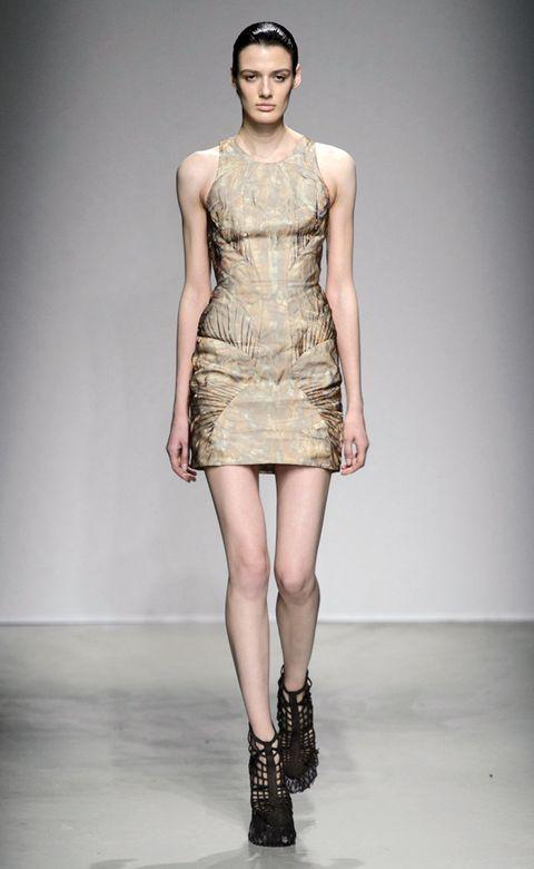 Clothing, Human, Fashion show, Skin, Human body, Shoulder, Human leg, Joint, Waist, Dress,
