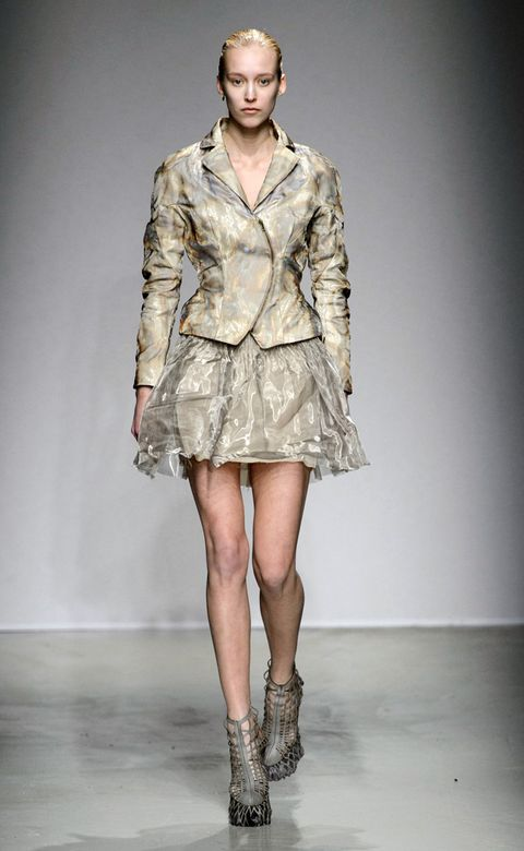 Clothing, Human, Fashion show, Sleeve, Shoulder, Human leg, Textile, Joint, Outerwear, Fashion model,