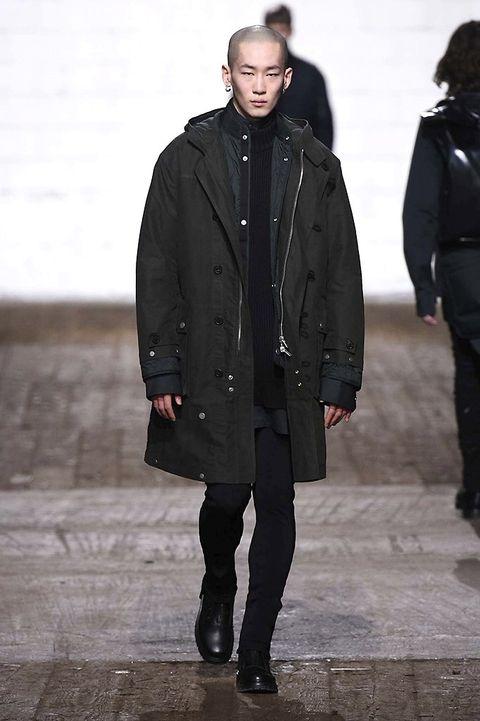 Clothing, Leg, Winter, Human body, Sleeve, Jacket, Textile, Standing, Outerwear, Coat,