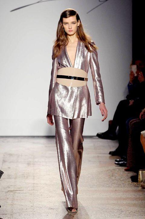Clothing, Footwear, Fashion show, Shoulder, Outerwear, Runway, Fashion model, Style, Fashion, Model,