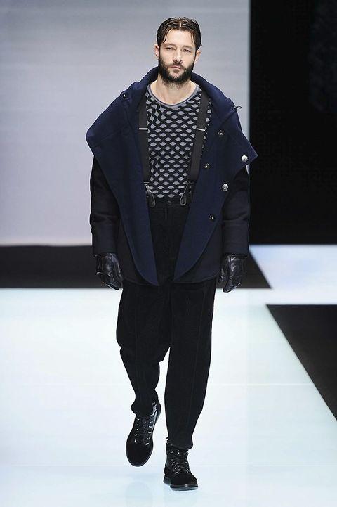 Fashion show, Jacket, Outerwear, Winter, Coat, Runway, Fashion model, Style, Fashion, Street fashion,