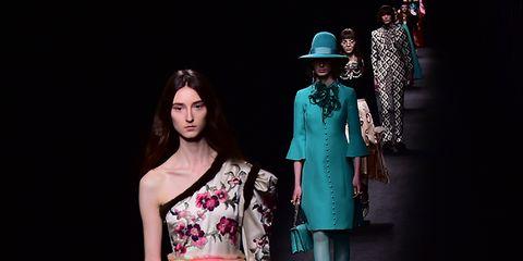 Textile, Style, Hat, Costume design, Fashion, Fashion model, Fashion show, Waist, Gown, Model,