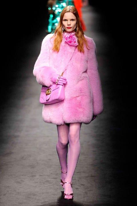 Clothing, Textile, Magenta, Outerwear, Purple, Pink, Dress, Violet, Fashion, Fashion model,