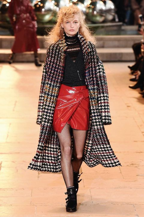 Footwear, Textile, Winter, Shoe, Outerwear, Human leg, Style, Fashion show, Street fashion, Runway,