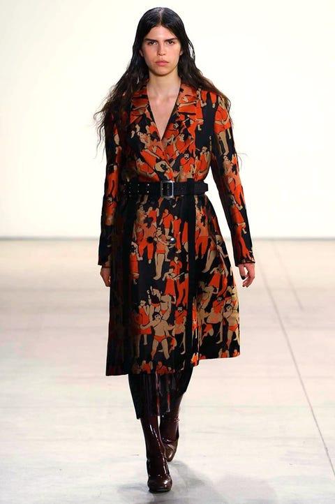 Clothing, Fashion show, Sleeve, Shoulder, Joint, Fashion model, Runway, Style, Dress, Street fashion,