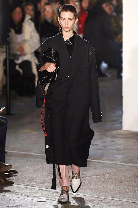 Sleeve, Outerwear, Style, Fashion model, Street fashion, Fashion show, Fashion, Overcoat, Fur, Bag,