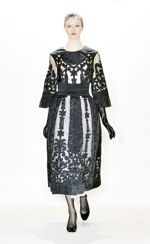 Clothing, Sleeve, Dress, Shoulder, Joint, Standing, One-piece garment, Style, Pattern, Day dress,