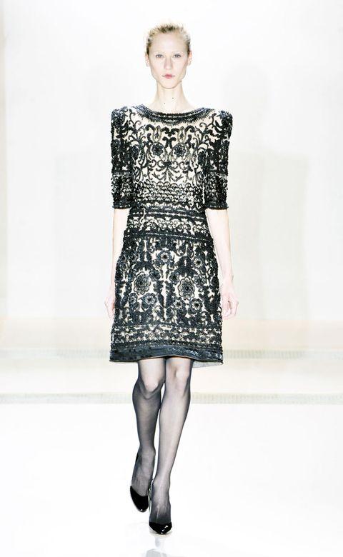 Clothing, Dress, Sleeve, Shoulder, Joint, Human leg, Standing, One-piece garment, Style, Waist,