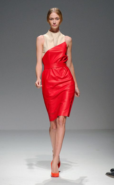 Clothing, Human leg, Shoulder, Dress, Red, Joint, One-piece garment, Fashion model, Style, Waist,
