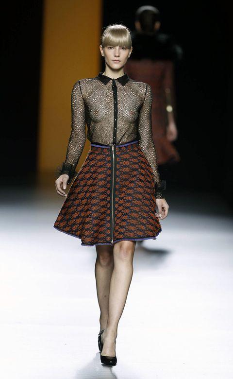 Clothing, Fashion show, Shoulder, Human leg, Joint, Runway, Fashion model, Style, Waist, Knee,