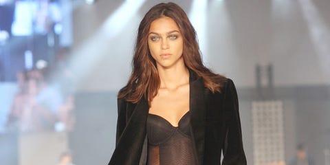 Brown, Human body, Trousers, Fashion show, Outerwear, Jacket, Denim, Fashion model, Style, Waist,