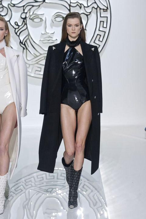 Leg, Style, Thigh, Fashion model, Fashion, Black, Knee, Fashion design, Knee-high boot, Fashion show,