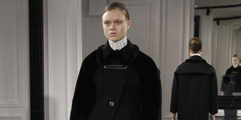 Sleeve, Collar, Standing, Outerwear, Coat, Bench, Style, Winter, Formal wear, Overcoat,