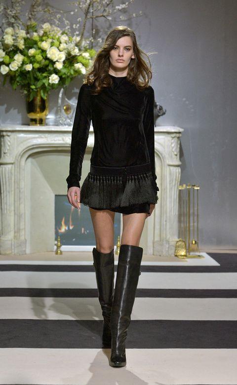 Clothing, Leg, Boot, Style, Dress, Knee-high boot, Fashion model, Knee, Fashion, Black,