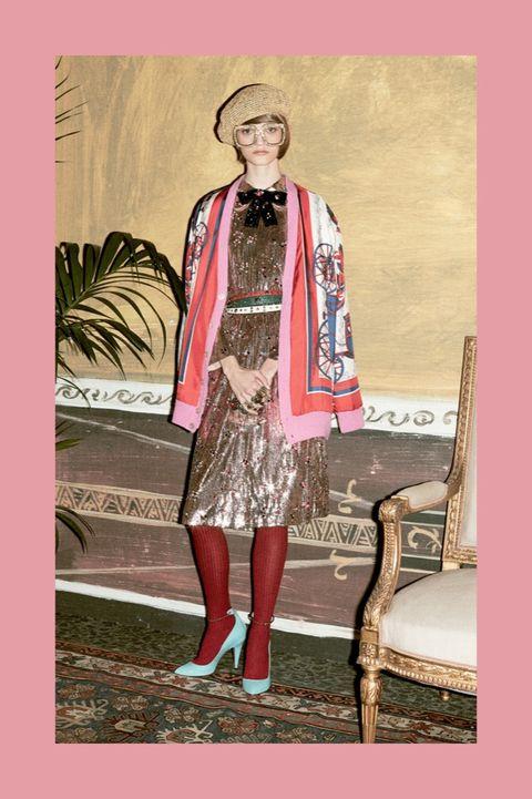 Textile, Hat, Fashion, Vintage clothing, Costume design, Knee, Beige, Fashion design, Costume, Fur,