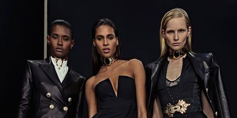 Clothing, Outerwear, Formal wear, Style, Fashion model, Collar, Fashion, Black, Fashion design, Model,