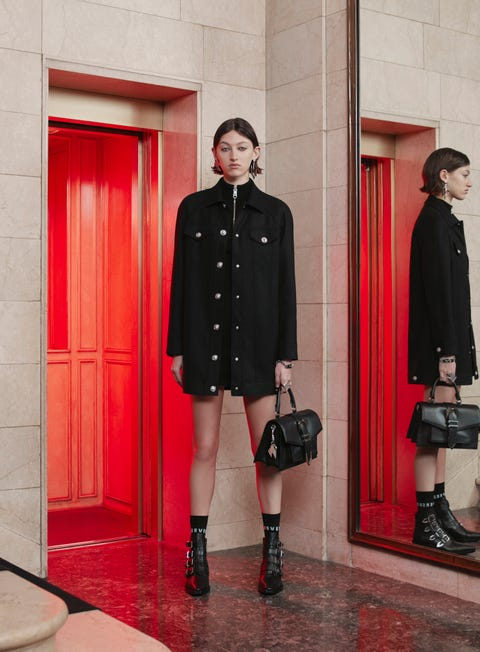 Clothing, Footwear, Leg, Sleeve, Collar, Red, Textile, Coat, Outerwear, Standing,