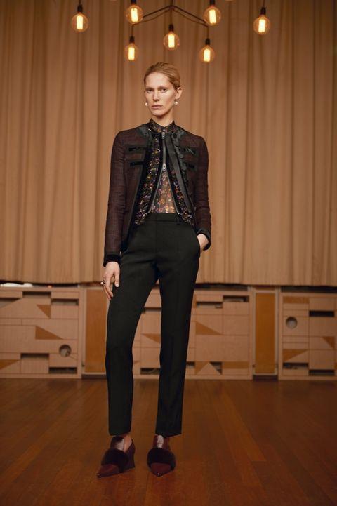 Collar, Trousers, Dress shirt, Coat, Suit trousers, Textile, Interior design, Shoe, Outerwear, Style,