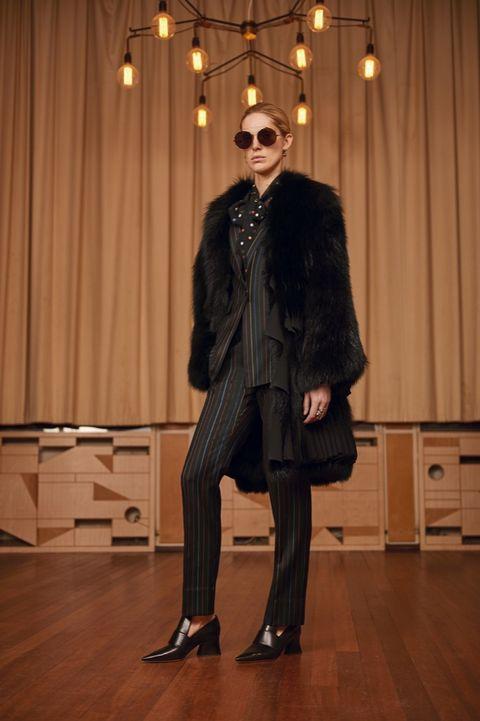 Eyewear, Trousers, Shoe, Jacket, Sunglasses, Textile, Coat, Outerwear, Curtain, Fashion accessory,