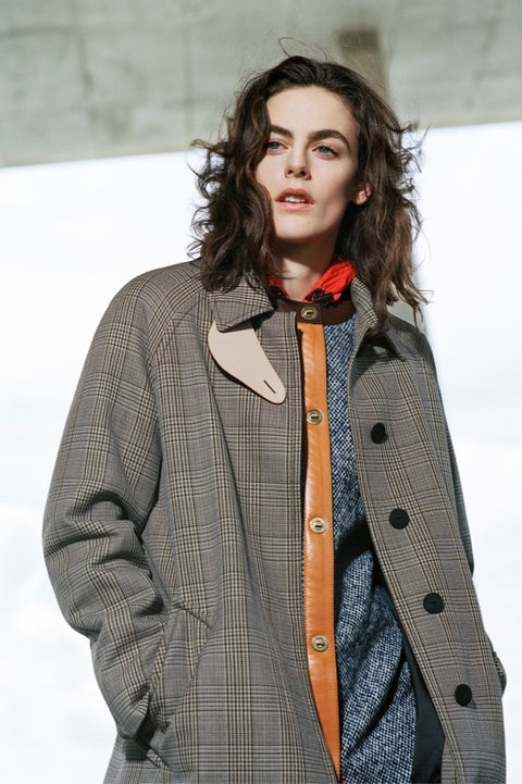 Hair, Clothing, Outerwear, Fashion, Jacket, Hairstyle, Long hair, Coat, Human, Model,