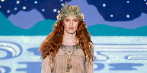 Fashion show, Dress, Style, Crown, Headpiece, Fashion model, Hair accessory, Headgear, Fashion, Winter,