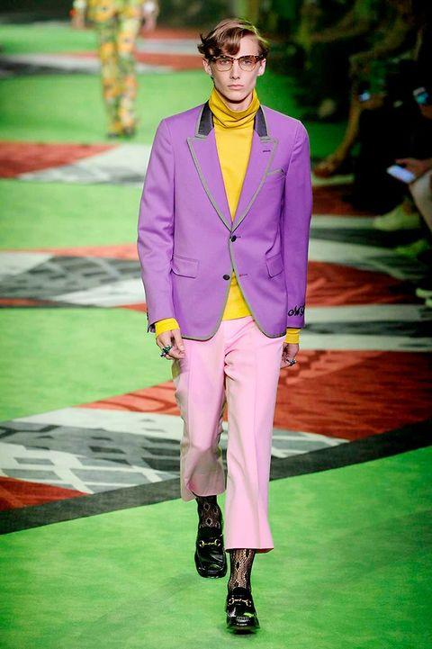 Green, Shirt, Outerwear, Coat, Style, Collar, Fashion show, Blazer, Fashion model, Fashion,