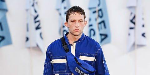 Blue, Style, Electric blue, Fashion, Cobalt blue, Fashion design, Fashion model, Fashion show, Suit trousers, Pocket,