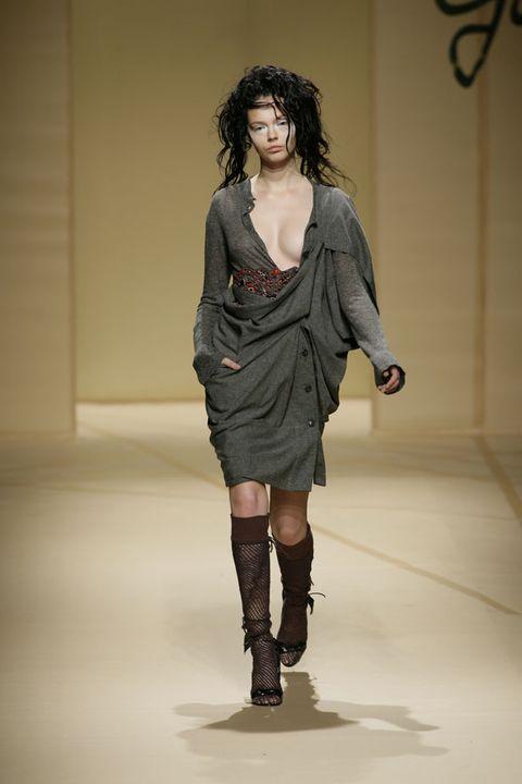 Clothing, Human, Human body, Shoulder, Human leg, Joint, Fashion show, Style, Fashion model, Boot,