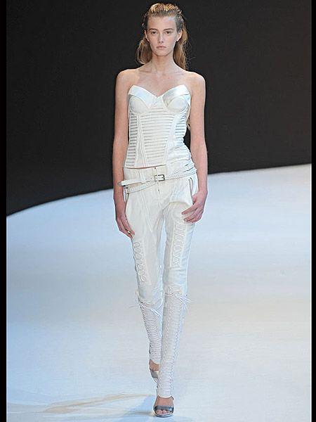 Clothing, Fashion show, Skin, Shoulder, Joint, Runway, Human leg, Fashion model, Waist, Style,