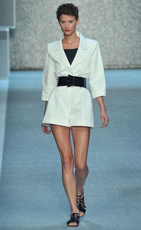 Clothing, Footwear, Leg, Sleeve, Fashion show, Shoulder, Human leg, Joint, Fashion model, Style,